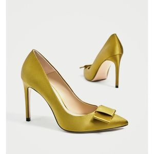 Zara satin court shoes with bows